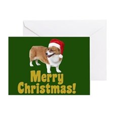 Christmas Corgi Greeting Card