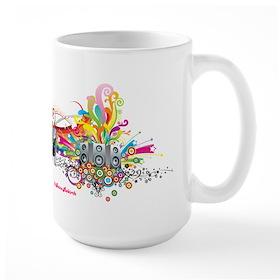 DJ Turntable 4 Large Mug