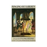 Liberty Bell 1776 Rectangle Magnet (10 pack)