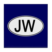 JW Euro Oval blue Tile Coaster