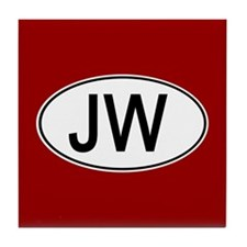 JW Euro Oval red Tile Coaster