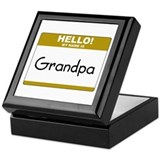 Grandpa &quot;Name Tag&quot; Keepsake Box