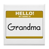 "Grandma ""Name Tag"" Tile Coaster"