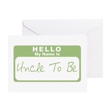 My Name Is Uncle To Be (Green) Greeting Card