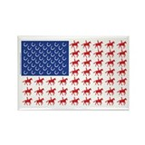 Original Patriotic Horse Flag Rectangle Magnet