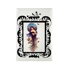 Bat Lady Witch Rectangle Magnet
