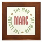 Marc Man Myth Legend Framed Tile