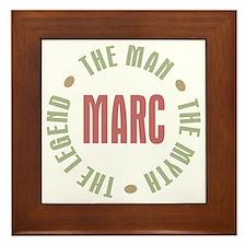 Marc Man Myth Legend Framed Tile