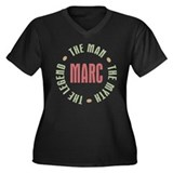 Marc Man Myth Legend Women's Plus Size V-Neck Dark