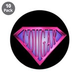 "SuperCougar(pink) 3.5"" Button (10 pack)"