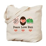 Peace Love Run Runner Tote Bag