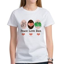 Peace Love Run Runner Tee
