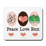 Peace Love Run Runner Mousepad