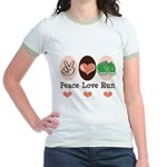 Peace Love Run Runner Jr. Ringer T-Shirt