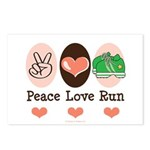 Peace Love Run Runner Postcards (Package of 8)