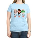 Peace Love Run Runner Women's Light T-Shirt