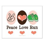 Peace Love Run Runner Small Poster