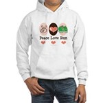 Peace Love Run Runner Hooded Sweatshirt