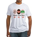 Peace Love Run Runner Fitted T-Shirt