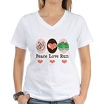 Peace Love Run Runner Women's V-Neck T-Shirt
