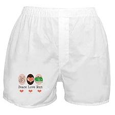 Peace Love Run Runner Boxer Shorts
