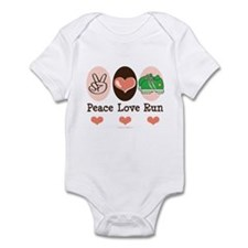 Peace Love Run Runner Infant Bodysuit