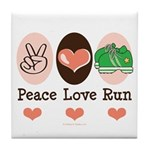 Peace Love Run Runner Tile Coaster