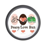 Peace Love Run Runner Wall Clock
