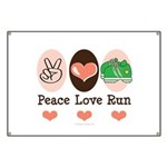 Peace Love Run Runner Banner