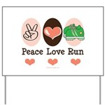 Peace Love Run Runner Yard Sign