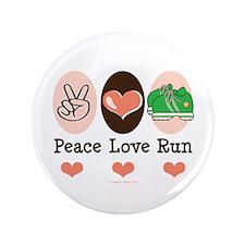 """Peace Love Run Runner 3.5"""" Button (100 pack)"""