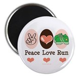 Peace Love Run Runner Magnet