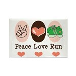 Peace Love Run Runner Rectangle Magnet (100 pack)