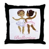 Ballerina(black) Throw Pillow