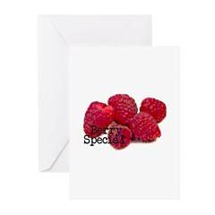 Berry Special Raspberries Greeting Cards (Pk of 10