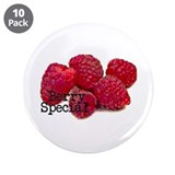 "Berry Special Raspberries 3.5"" Button (10 pac"