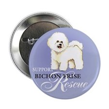 "Bichon Frise Rescue 2.25"" Button (100 pack)"