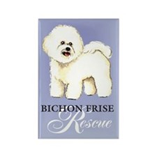 Bichon Frise Rescue Rectangle Magnet