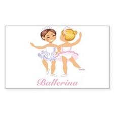 Ballerina Rectangle Decal