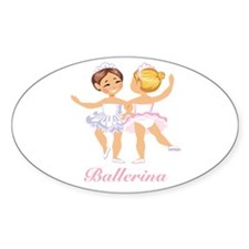 Ballerina Oval Decal