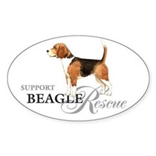 Beagle Rescue Oval Decal