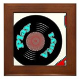 Play Vinyl Framed Tile