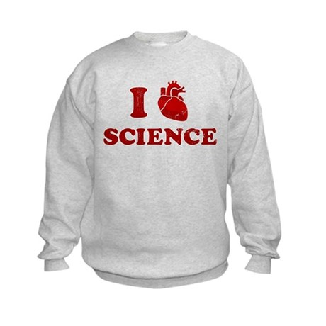 i love science Kids Sweatshirt