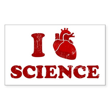 i love science Rectangle Sticker