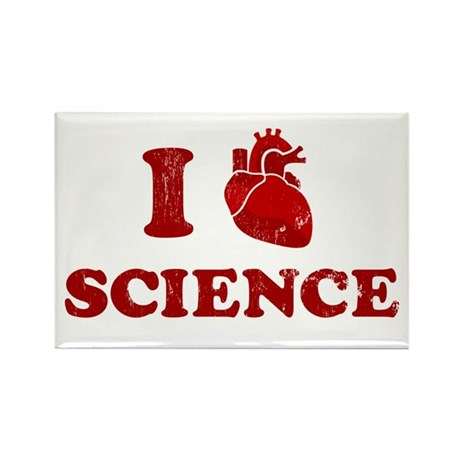 i love science Rectangle Magnet