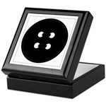 Black Button Keepsake Box