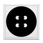 Black Button Tile Coaster