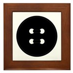 Black Button Framed Tile