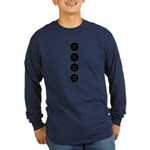 Black Buttons Long Sleeve Dark T-Shirt