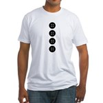 Black Buttons Fitted T-Shirt